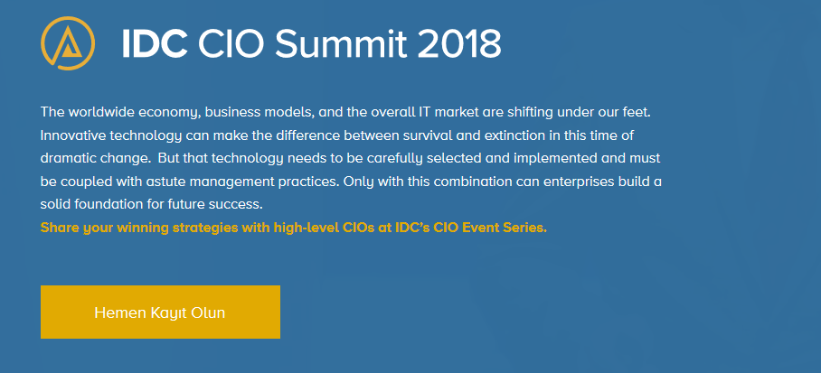 IDC Türkiye CIO Summit 2018