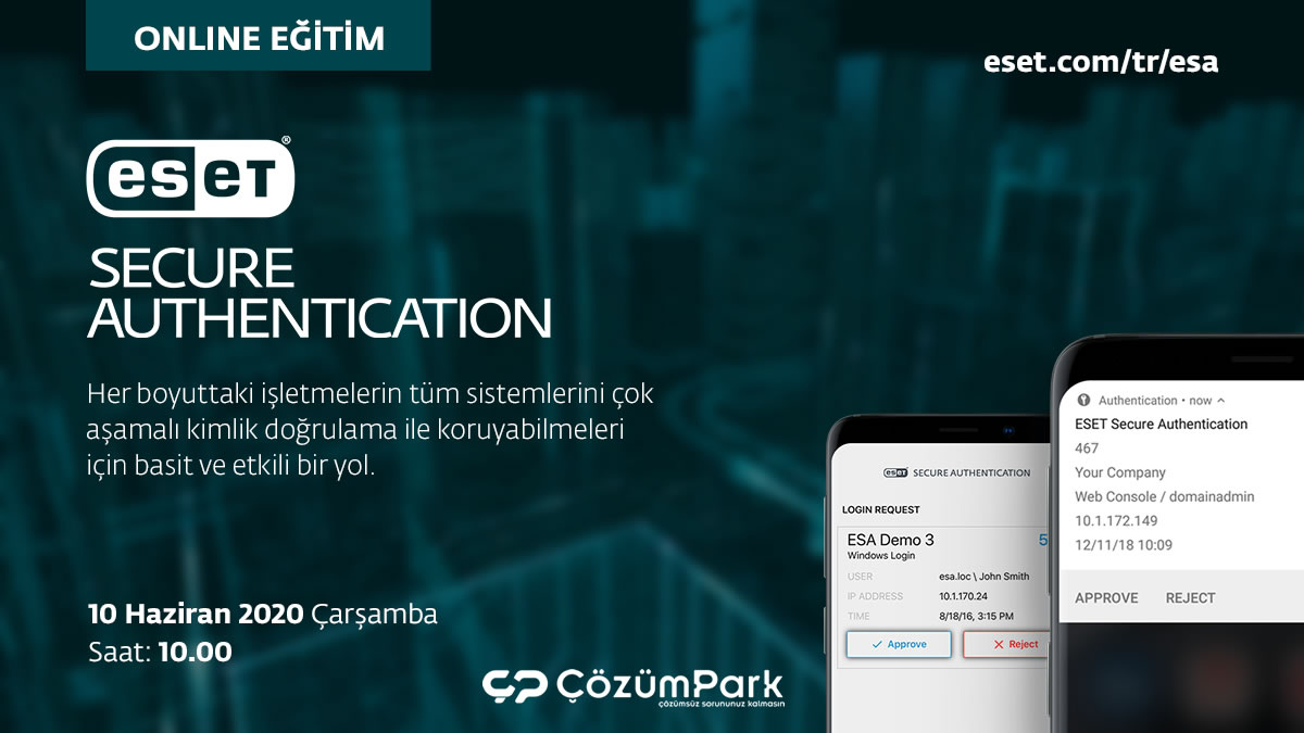 ÇözümPark Online Eğitim - ESET Secure Authentication